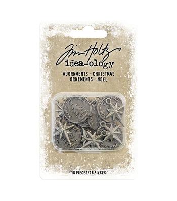 Idea-Ology Metal Adornments 16/Pkg-Antique Nickel Ornaments