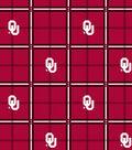 University of Oklahoma Sooners Flannel Fabric 42\u0022-Plaid