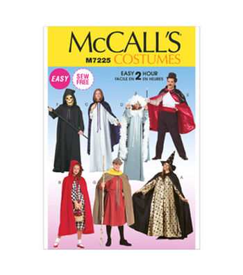McCall's Pattern M7225 Adult Cape & Tunic Costumes-Size S-XL