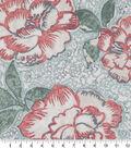 Robert Allen @ Home Print Swatch 55\u0022-Peony Bowl Coral