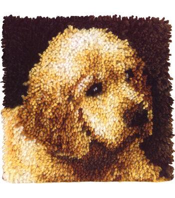 "Wonderart Latch Hook Kit 12""X12""-Puppy Love"