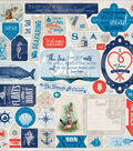 Seafarer Cardstock Stickers 12\u0022X12\u0022-Details