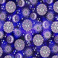Novelty Cotton Fabric-Purple Sun and Moon Space