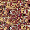 Florida State University Seminoles Cotton Fabric-Pop Art