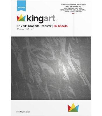 "KINGART Graphite Transfer Paper 9""X13"" -25 Sheets"