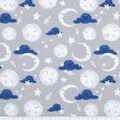 Nursery Flannel Fabric-Gray Good Night Moon