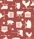 Snuggle Flannel Fabric -Red Weathervane