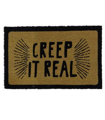 Maker's Halloween Coir Mat-Creep it Real