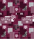 Texas A&M University Aggies Cotton Fabric -Modern Block