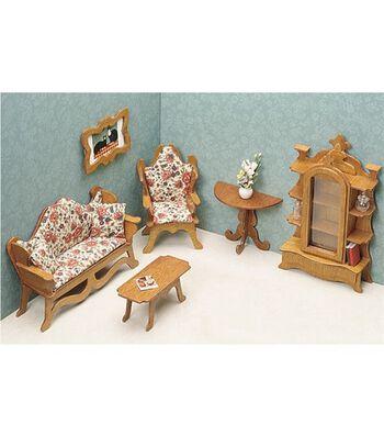 Greenleaf Dollhouse Furniture-Living Room Set
