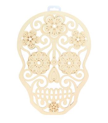 Maker's Halloween Laser Cut Wood-Sugar Skull