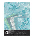 Black Ink Chinaberry Aqua Deco Paper Pack