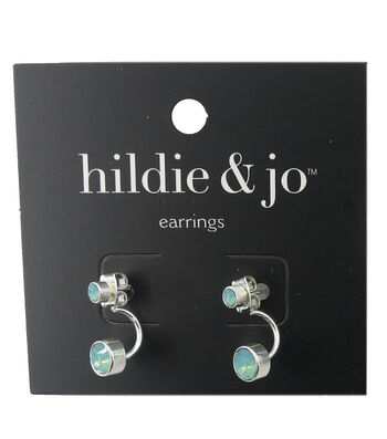 hildie & jo Silver Earrings-Blue Stones