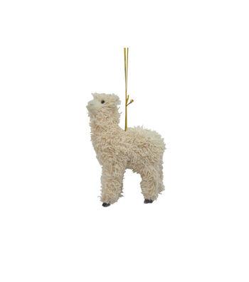 Maker's Holiday Christmas Furry Baby Llama Ornament