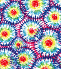 Snuggle Flannel Fabric-Tie Dye Burst Multi