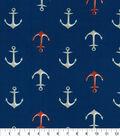 Waverly Sun N Shade Fabric 9\u0022x9\u0022 Swatch-Oceanic Calm Nautical