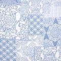 No Sew Throw Fabric Kit-Denim Patch