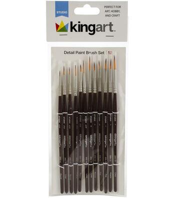 KINGART Paint Brush Set 12/Pkg-Detail