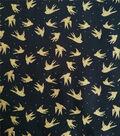 Shirting Cotton Fabric 57\u0027\u0027-Birds on Black