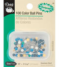 Dritz 1.06\u0022 Dressmaker Pins 100pcs Size 17