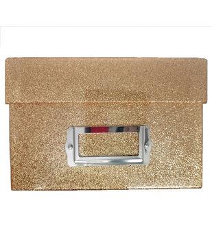Photo Storage Box-Copper Glitter