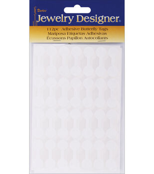 """Darice Adhesive Paper Butterfly Tags 0.5"""" White"""