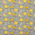 Super Snuggle Flannel Fabric-Sun and Moon on Gray