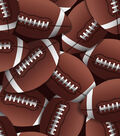 Snuggle Flannel Fabric -Football Brown