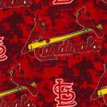 St. Louis Cardinals Fleece Fabric -Digital