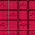 University of Arkansas Razorbacks Flannel Fabric 42\u0022-Plaid