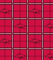 "University of Arkansas Razorbacks Flannel Fabric 42""-Plaid, , hi-res"