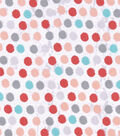 Snuggle Flannel Fabric 42\u0027\u0027-Multi Peach Dots