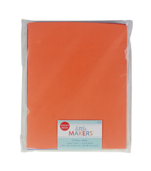 Little Makers 9X12'' Sticky Back Foam Value Pack-Brights