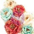 Prima Marketing Mulberry Paper Flowers-Pretty In Rouge/Midnight Garden