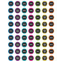 Teacher Created Resources Chalkboard Brights Mini Stickers 12 Packs