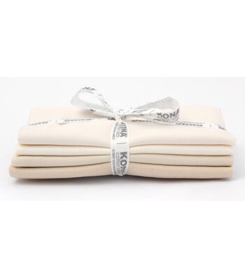 Kona Pre-Cut Fabric Bundle-Not Quite White