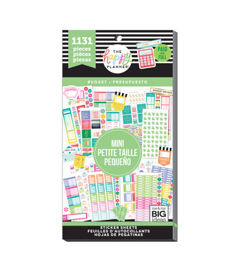 The Happy Planner 1131 pk Stickers-Budget