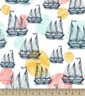 Sailboats Print Fabric