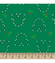 Disney Mickey Mouse Flannel Fabric-Mickey Head Toss, , hi-res
