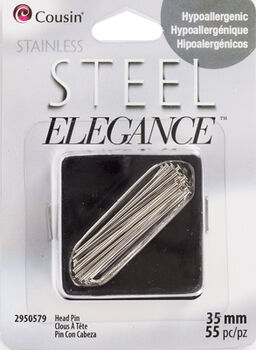 55 Piece 35Mm Head Pin Stainless Steel