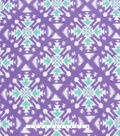 No Sew Fleece Throw Kit 72\u0027\u0027x60\u0027\u0027-Teal & Purple Aztec