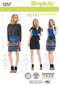 Simplicity Pattern 1257A Xxs-Xs-S-M-Sportswear