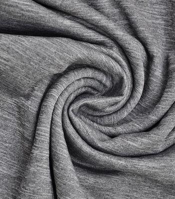 Loungeletics Stretch Terry Performance Fabric -Heather Black Gray