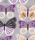 Snuggle Flannel Fabric 42\u0022-Purple Butterflies