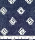 Specialty Luxe Fleece Fabric 59\u0022-Navy Diamond