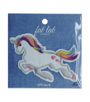 Fab Lab Wearables Unicorn Iron-on Applique
