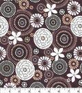 Quilter\u0027s Showcase Cotton Fabric -Floral Medallion on Plum