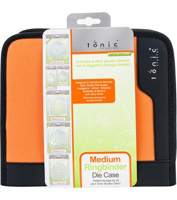 Tonic Studios Medium Ring Binder Die Case-Black & Orange