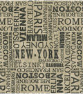 Waverly Upholstery Fabric 54\u0022-Destinations Graphite