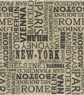 """Waverly Upholstery Fabric 54""""-Destinations Graphite"""